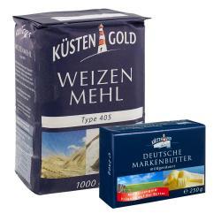 Küstengold Weizenmehl Typ 405 & Deutsche Markenbutter - 2145300006122
