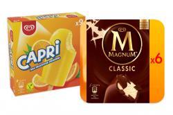 Set: Kleine Eisbox mit Capri 27 Stk. und Magnum Classic 12 Stk.