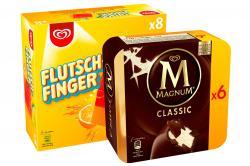 Set: Kleine Eisbox mit Flutschfinger 24 Stück und Magnum Classic 12 Stück