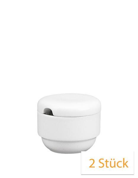 Schönwald Form 898 Zuckerdose mit Deckel 0,18 L weiß (2 St.)