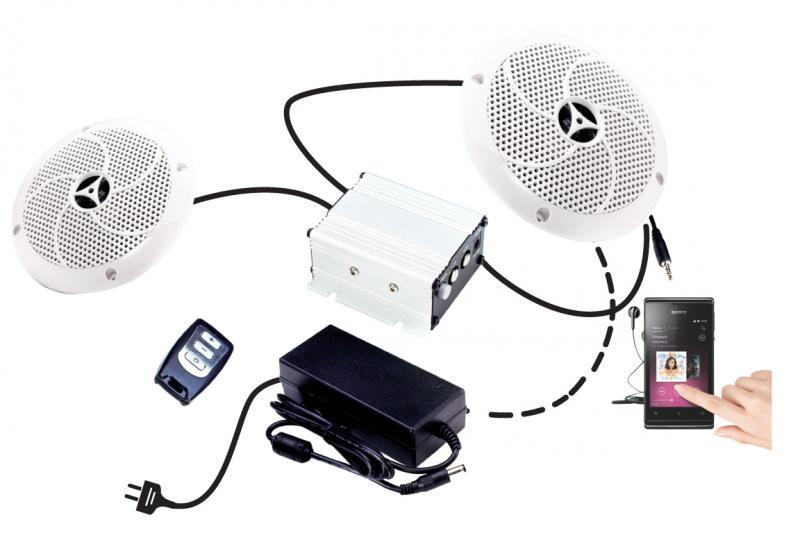karibu moderne musikanwendung soundsystem f r sauna mit fernbedienung ebay. Black Bedroom Furniture Sets. Home Design Ideas