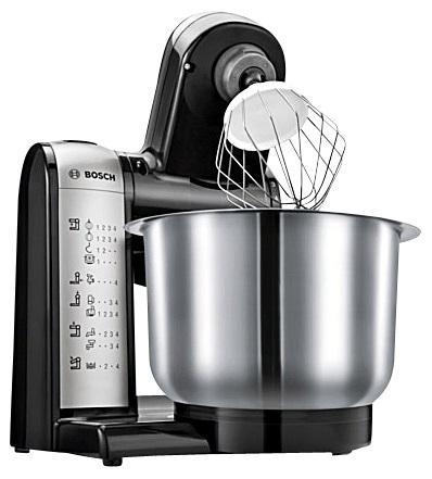 Bosch MUM 48 A1 Küchenmaschine, anthrazit-edelstahl
