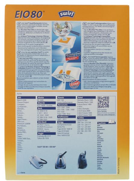 Swirl EIO80 Staubfilterbeutel