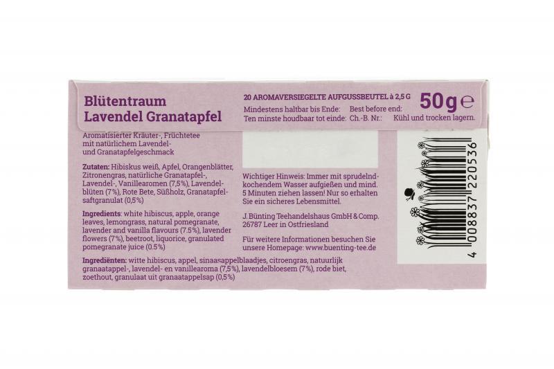 Bünting Blütentraum Lavendelblüte Granatapfel