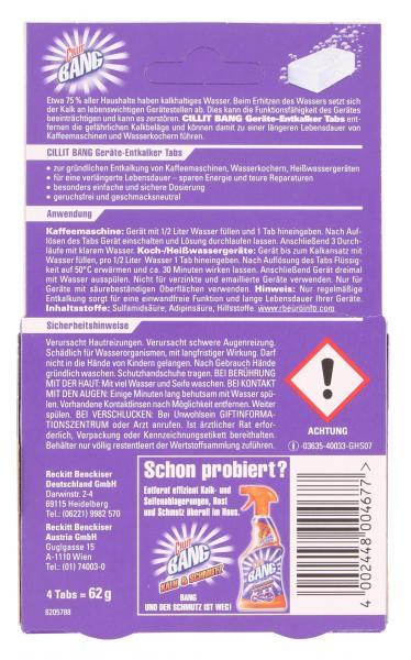 Cillit Bang Geräte-Entkalker-Tabs
