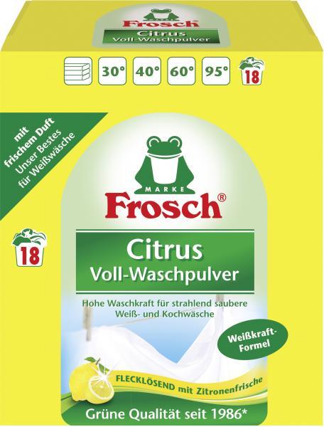Frosch Citrus Voll-Waschpulver 18WL
