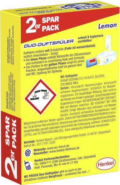 WC Frisch Duo-Duftspüler Nachfüller Lemon