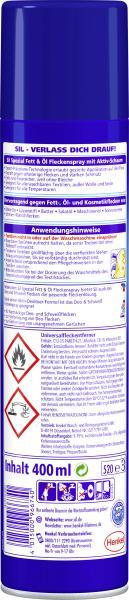 Sil Spezial Aktiv-Schaum Fett & Öl Fleckenspray mit Reinigungs-Benzin