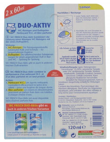 WC Frisch Duo-Aktiv-Nachfüller Lemon