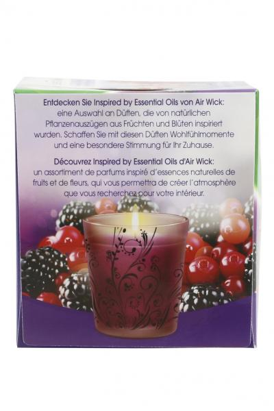 Air Wick Essential Oils Duftkerze Brombeere & Cranberry
