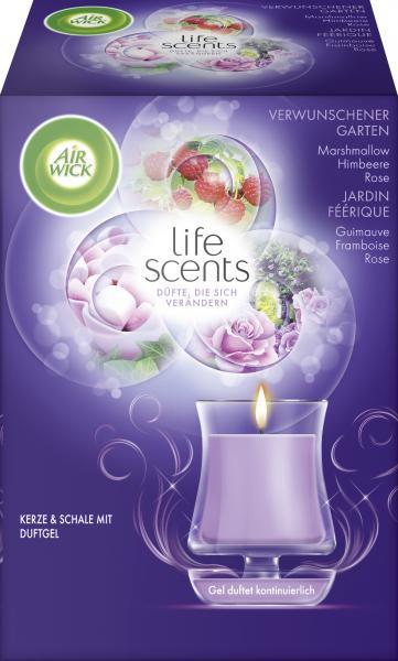 Air Wick life scents Kerze & Schale mit Duftgel verwunschener Garten
