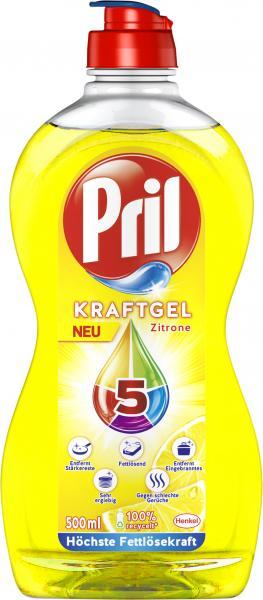 Pril Kraft Gel Doppelentkruster Zitrone