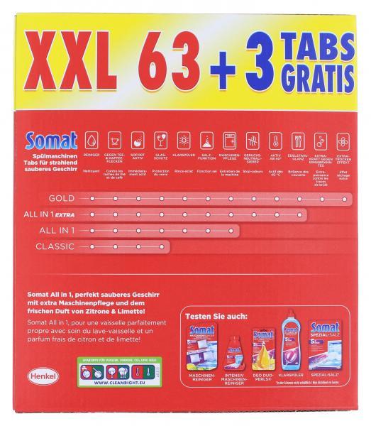Somat 7 All in 1 Tabs Zitrone & Limette XXL