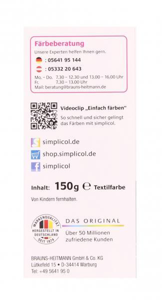 Simplicol Textilfarbe expert Mitternacht-Schwarz