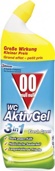 Null-Null WC AktivGel 3in1 Fresh Green