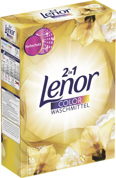 Lenor Colorwaschmittel 2 in 1 goldene Orchidee