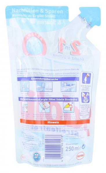 Sidolin Streifenfrei Cristal Nachfüllpack