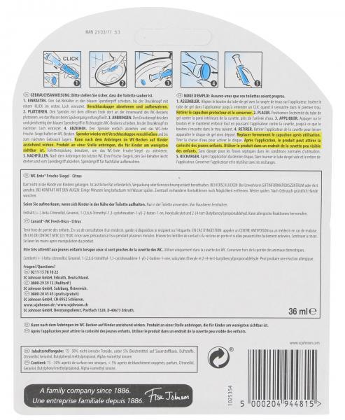 WC-Ente Frische Siegel Limone