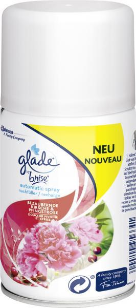 Glade by Brise Automatic Spray/Nachfüller Kirsche & Pfingstrose