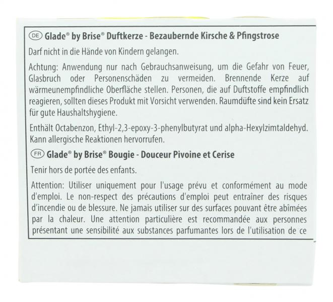 Glade by Brise Duftkerze Kirsche & Pfingstrose