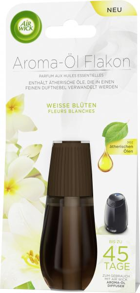 Air Wick Aroma-Öl Flakon Nachfüller Weiße Blüten