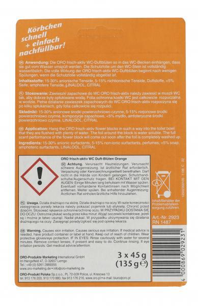 Oro frisch aktiv WC-Duftblüten 2in1 Orange