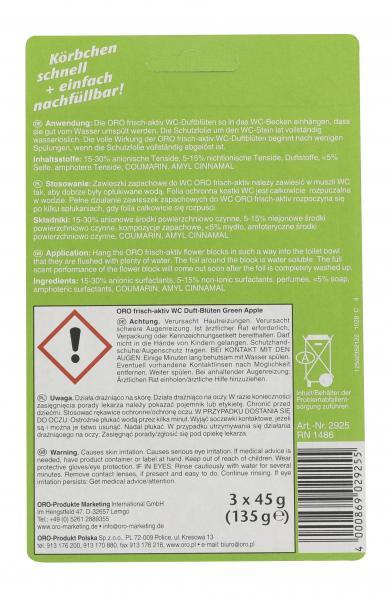 Oro frisch aktiv WC-Duftblüten 2in1 Green Apple