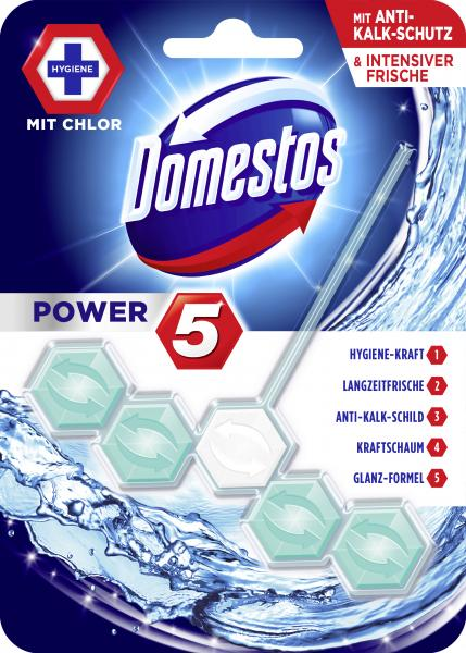 Domestos Power 5 WC-Stein mit Chlor