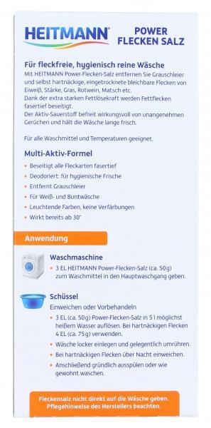 Heitmann Power Flecken Salz