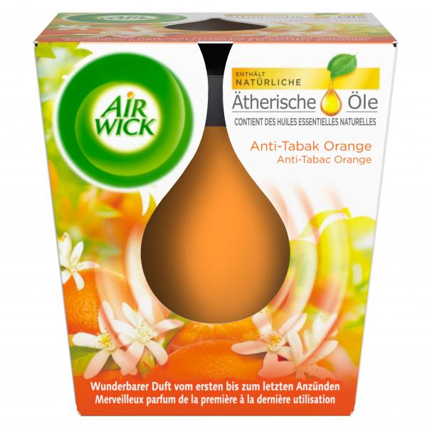 Air Wick Wohlfühl-Duftkerze Anti-Tabac Orange