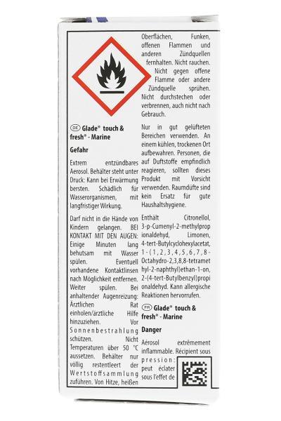 Glade Touch & Fresh Minispray Nachfüller Marine