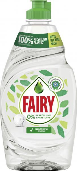 Fairy Handspülmittel 0% Parfüm und Farbstoffe