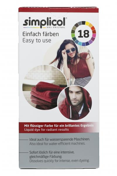 Simplicol Textilfarbe Intensiv Rubin-Rot