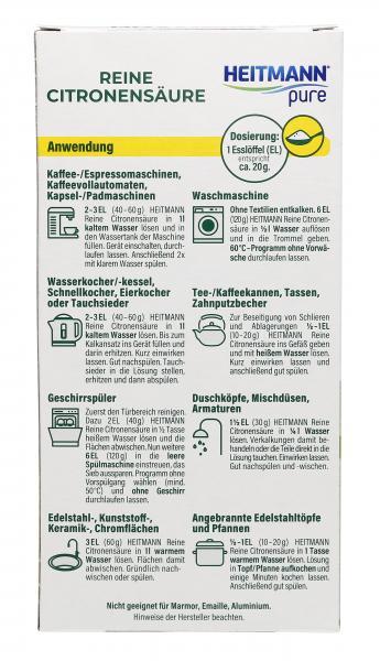 Heitmann pure Reine Citronensäure Pulver