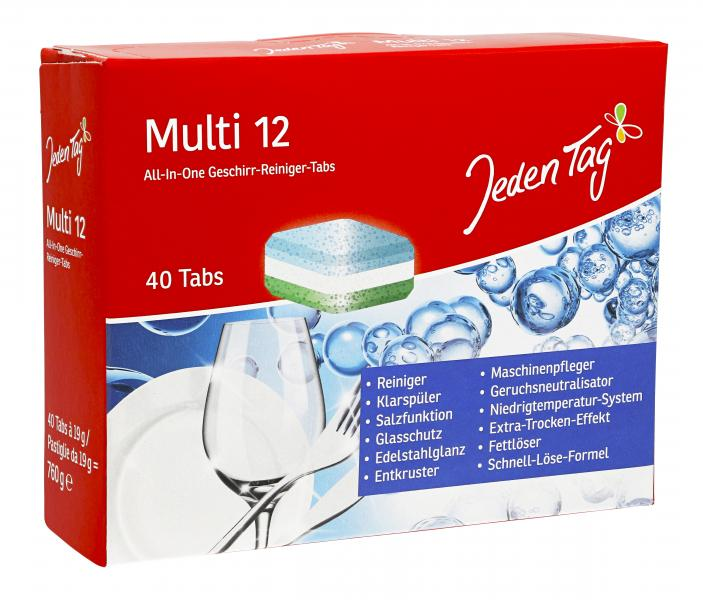 Jeden Tag Multi 12 All-In-One Geschirr-Reiniger Tabs