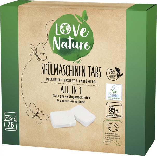 Love Nature Spülmaschinentabs All in 1