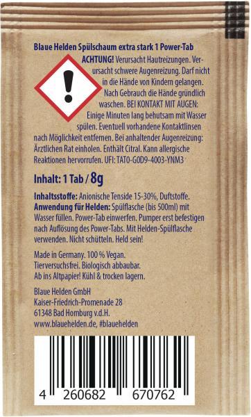 Blaue Helden Spülschaum Power-Tab