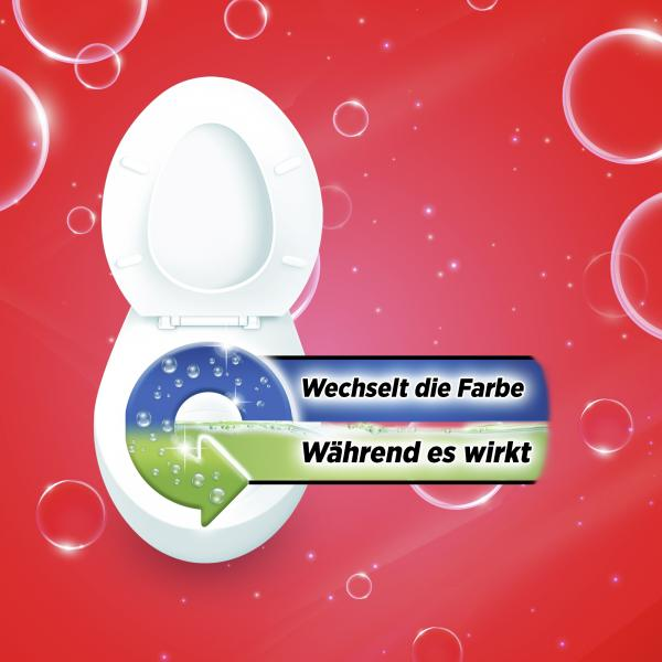 Bref Power WC-Kraftgel gegen 99,9% der Bakterien