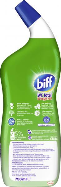 Biff WC Total Reiniger Gel pro nature Minze Eukalyptus Duft