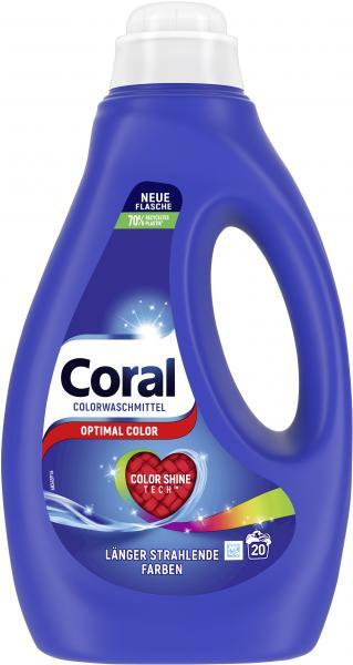 Coral Colorwaschmittel flüssig Optimal Color