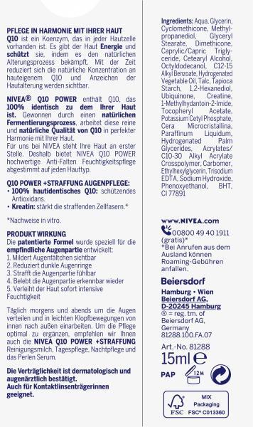 Nivea Q10 Power Anti-Falten + Straffung Augenpflege