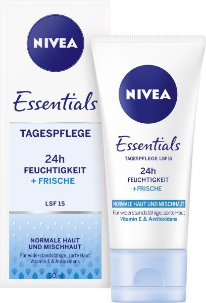 Nivea Essentials Tagespflege 24h Feuchtigkeit + Frische LSF 15