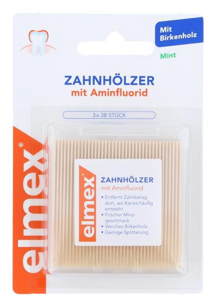 Elmex Zahnhölzer mit Aminfluorid
