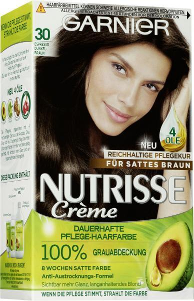 Garnier Nutrisse Creme Pflege-Haarfarbe 30 espresso-dunkelbraun