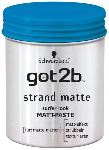 Schwarzkopf got2b Strand Matte surfer look Matt Paste