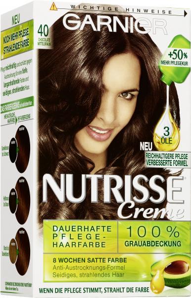 Garnier Nutrisse Creme Pflege-Haarfarbe 40 chocolate mittelbraun