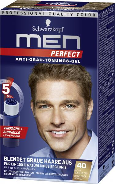 Schwarzkopf Men Perfect Anti-Grau Tönungs-Gel 40 natur dunkelblond