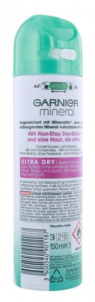 Garnier Mineral Ultra Dry Deodorant Spray