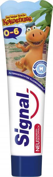 Signal Zahnpasta 0-6 Jahre mit Erdbeergeschmack.
