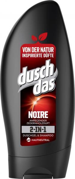 Duschdas 2in1 Noire Duschgel & Shampoo Anregender Zedernholzholzduft